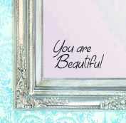 BERRYZILLA You are Beautiful Decal 20cm x 12cm Motivational Quote Wall Sticker for Mirror, Windows or Walls Decoration Decor Stickerciti Brand