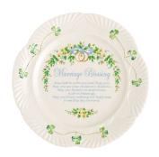 Belleek Marriage Blessing Plate, 23cm