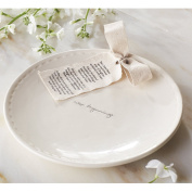 Mud Pie 4075099 Ceramic Positive Attitude Decorative Plate