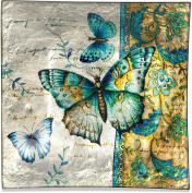 Angelstar 19171 Radiant Butterflies Square Plate, 20cm