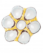 Abigails Oyster Plate, 24cm by 24cm by 2.5cm