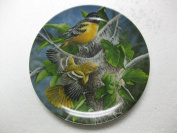 Edwin M. Knowles-The Baltimore Oriole by Kevin Daniel-3rd Issue In The Encyclopaedia Britannica Birds Of Your Garden Collection- 22cm Diameter