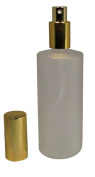 4 Ounce (120 ml) Frosted Glass Empty Refillable Replacement Glass Perfume or Cologne Bottle with Spray Applicator