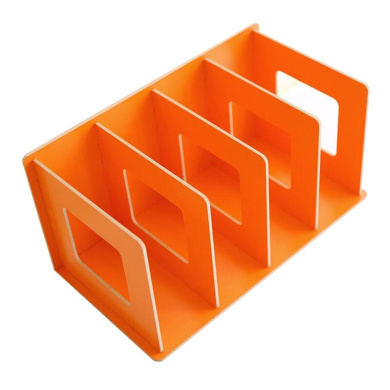 UQueen Creative Wooden DIY Desktop Magazines and Books Storage Box Sorting Bookends Office Kitchen Dish Carrying Shelves