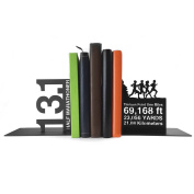 Gone For a Run Running Metal Bookends | Decorative | Nonskid | 13.1 Math Miles | Great Gift For Runners