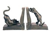 Playful Cats Bookends Pair, 18cm High x 15cm Wide Each Piece
