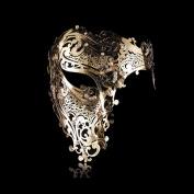 Goodkssop Luxury Mask Women Men's Signature Phantom of the Opera Half Face Skull Cool Mask Metal