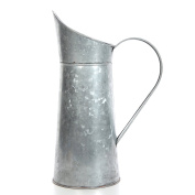 Hosley's Galvanised Pitcher - 36cm High, Decorative Use, Ideal Gift for Weddings, Spa, Flower Arrangements