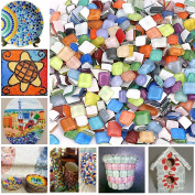 Peicees Mosaics Classico Glass Mosaic Tiles Colour Variety,Great for Art Craft,1kg
