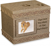 AngelStar 13cm Pet Urn for Dog, Dark Brown