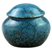 Keepsake Cremation Urn by Meilinxu- Ceramics Mini Funeral Urns for Human Ashes Adult- Hand Painted -Fits a Small Amount of Cremated Remains- Display Burial Urn at Home or Office