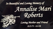 Engraved Plaque, Plate, Name Plate in brass Black and Gold with Angel