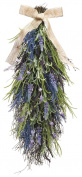 70cm Artificial Lavender and Wild Grasses Door Swag On A Vine Base