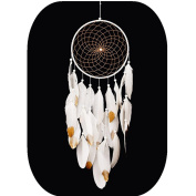 Handmade Dream Catchers,White and Gold Feather Decoration for Christmas Wedding Party- Diameter 20cm Length 27~70cm