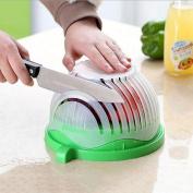 Award Winning Salad Cutter Bowl - New Salad maker. Vegetable chopper, BPA FREE, Dishwasher Safe, Cutter for Lettuce or Salad chopper for Salad in 60 Seconds by 1 Step Kitchen