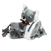 RealAus Koala & baby Backpack Soft Plush For Toddlers Grey Australian Souvenir