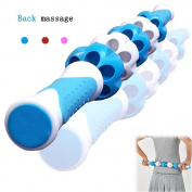 PILAAIDOU Back Muscles Roller Stick, 60cm Great for Stretching for Athletes Body Massage Sticks Tools for Releasing Cramps, Back Tightness, Myofascial, Trigger Points Pain, Legs Lactic Acid, Knots, & Calf Soreness Massager