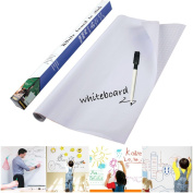 Whiteboard Contact Paper, KSANA 45cm (W)×200cm (L)Self-Adhesive Wall Sticker Wall Paper Ideal For School, Work and Household-White