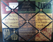 """The French Memo Board - A Creative Display for Photos, Mementos, Greeting Cards and Much More-""""Family"""" - Factory Seale"""
