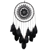 Whitelotous Handmade Lace Dream Catcher Feather Bead Hanging Decoration Ornament Gift