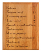 Retirement Gifts for Women or Men Retirement 2017 Retired Poem Retirement Gift Ideas for Coworker 7x9 Oak Wood Engraved Plaque Wood
