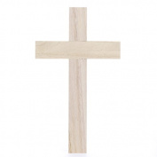 Package of 6 Unfinished Wood Wall Crosses for Crafting, Creating and Embellishing