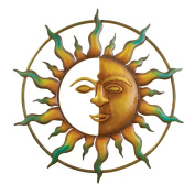 Bronze Sun Wall Art, for Indoor or Outdoor Use, 46cm Round