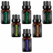 URbeauty Essential Oils, 6 Bottles Aromatherapy Essential Oil Diffuser Essential Oils 100% Pure Lavender, Peppermint, Sweet Orange, Eucalyptus, Tea Tree, Lemongrass Essential Oil Gift Set
