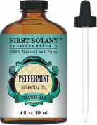 Peppermint Essential Oil 120ml - 100% Pure & Natural Mentha Piperita Therapeutic Grade Dropper Included- Peppermint Oil is Great for Aromatherapy, Bad Breath & Muscle Relief
