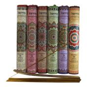Premium Incense Sticks, Lavender, Sandalwood, Jasmine, Patchouli, Rose, Vanilla, Variety Gift Pack 180 Stciks Includes a Holder in Each Box