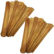 TrendBox 20pcs Handmade Plain Wood Wooden Incense Stick Holder Burner Ash Catcher Natural Design Buddhist