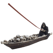 Home-n-Gifts Scary Grim Reaper in Fishing Boat of Skeletons Halloween Decorations