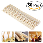 Tinksky 50pcs 25cm Oil Diffuser Replacement Rattan Reed Wood Sticks