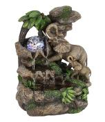 OK Lighting FT-1225/1L 28cm H Elephant Table Fountain