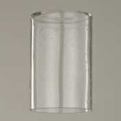 15cm Tall Clear Seeded Cylinder Glass Shade with 1-5/8 Fitter