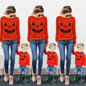 WensLTD Halloween Family Matching Clothes Long Sleeve Shirts Outfits Parent Child Matching Outfit (4T