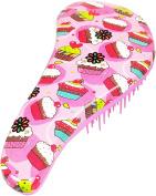 GoKnots For Girls Hair Detangler Brush for Kids - Cupcake