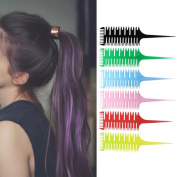 AMA(TM) Beauty Salon Barber Hair Comb with Fish Tail Bone Shape Comb Dyeing Tool