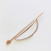 Gilr's Simple Geometric Hollow out Hairpin Hair Jewellery Barrette for Women Gift