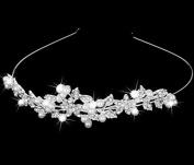 Yerger Flower Rhinstone Faux Pearl Decorated Headband Bridal Bridesmaid Decor