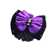 Vellhater Creative Bowknot Snood Net Barrette Hair Clip for Women