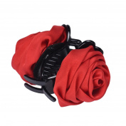 WuyiMC Korean Beauty Ribbon Rose Flower Bow Jaw Clip Barrette Hair Claws Headwear Hair Jewellery for Women Accessories