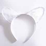 HongXander HongXander Womens Embroidered Lady Cat Ears Hair Hoop Hairband Hair Accessories Halloween Party Evening Prom Cosplay Headwear