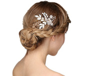Meiysh Vintage Wedding Hair Combs with Bead and Rhinestones - Wedding hair accessories for Bridesmaids