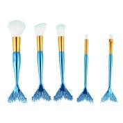 vmree 5Pcs Makeup Cosmetic Tool Eyeshadow Powder Foundation Blending Brush Set