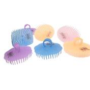 4 Pcs Hair Brush Hair Combs Shampoo Scalp Scrubber Massage Brush with Finger Hole