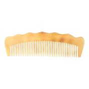 Fine Tooth Comb - Sheep Horn Anti Static Premium Hair Comb for Men and Women, Moustache Comb, Beard Comb, White - 5.5 x 4.3cm x 0.6cm