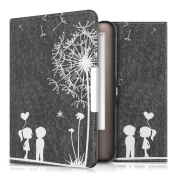 kwmobile Elegant synthetic leather case for the Tolino Shine / Page Design dandelion love in white black