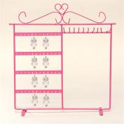 Upgrade Jewellery Display Rack Organiser Holder Earrings Metal Stand Necklace Holder,Pink colour