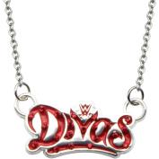 WWE Divas Logo Women's Stainless Steel Bling Pendant, 46cm with 5.1cm Extender